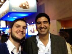 Liam Boogar (RB) & Tariq Krim (Jolicloud) at LeWeb