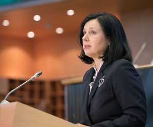 Social media platforms should 'open up' algorithms to combat fake content, says Vĕra Jourová