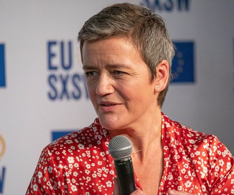 EU competition chief Margrethe Vestager will serve another term, with expanded powers to regulate tech companies