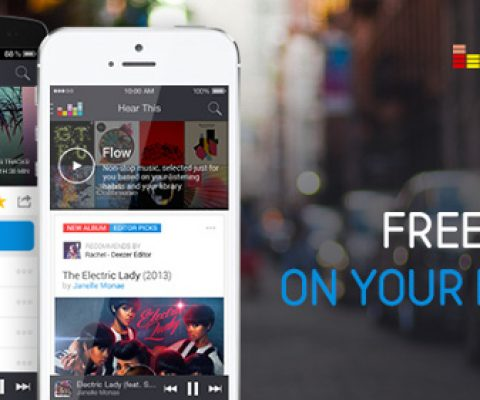 """Preparing for launch in the US, Deezer launches """"Flow,"""" a free mobile service"""