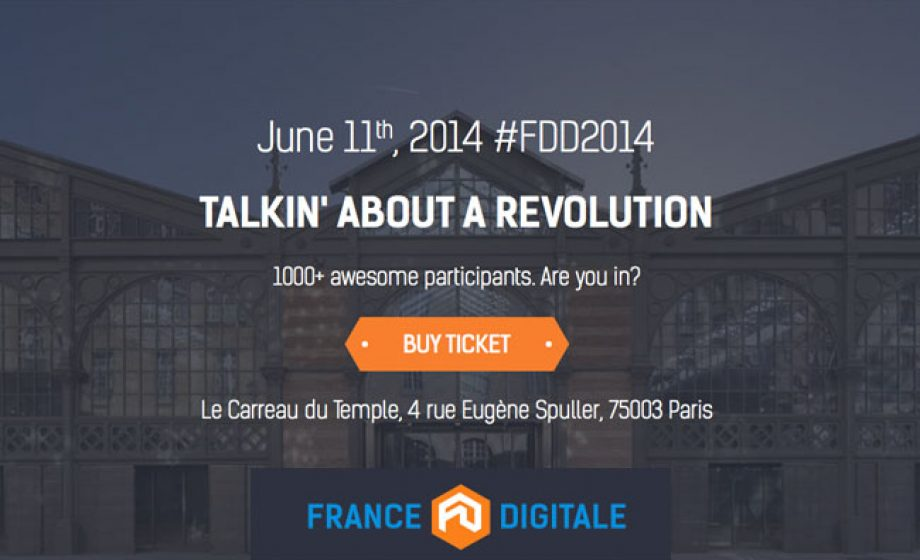 France Digitale Day #2 will be 'Talkin' about a revolution' on June 11th
