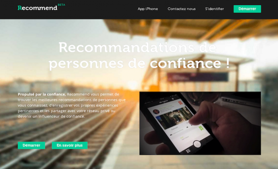 Recommend raises 800k euros to fuel their product and marketing development