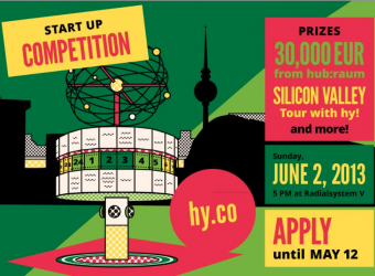 Apply by May 12th for hy! Berlin's startup competition