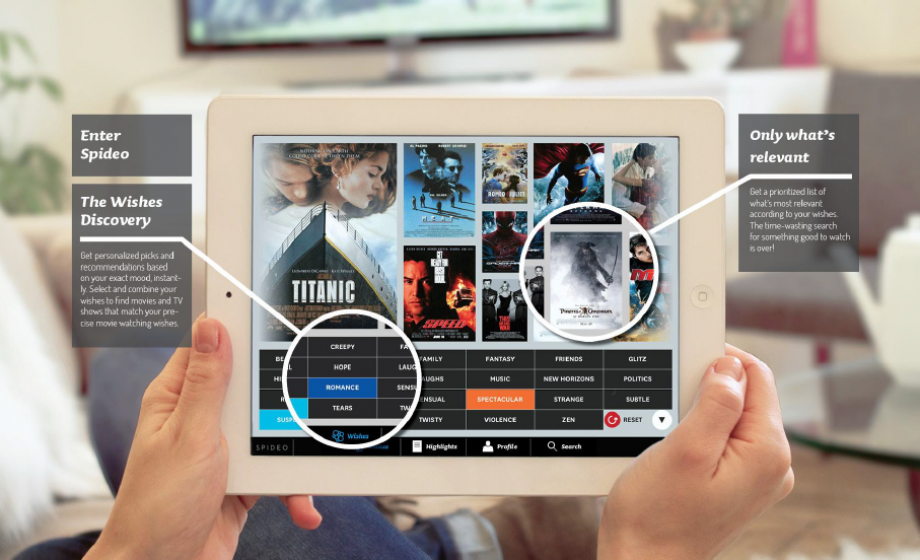 Spideo brings their video recommendation iPad app to France: who wants my Movie Data?