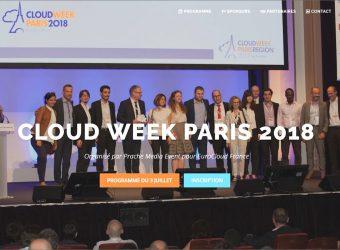 Cloud Week 2018: une journée de rencontre le 3 juillet à Paris