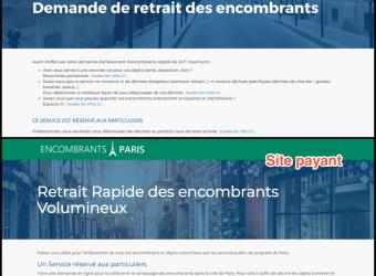 Encombrants à Paris: une arnaque en ligne facture un service gratuit!