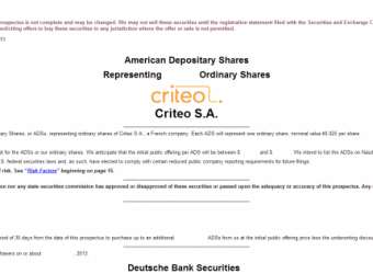 Here we go: Criteo files its IPO, could be trading as early as October