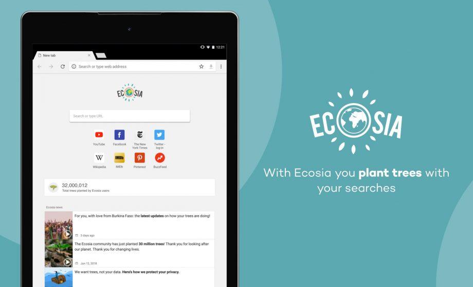Ecosia finit par accepter les enchères d'Android (et donc de Google)