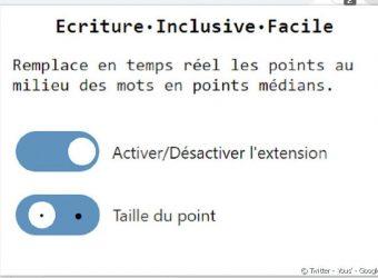 Une extension facilite l'usage de l'écriture inclusive