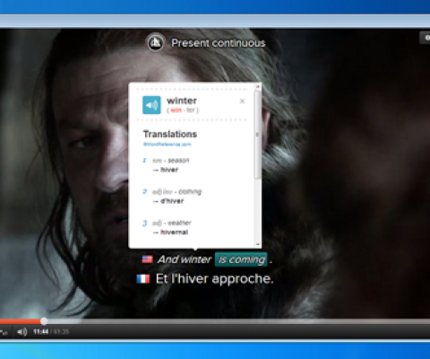 Want to learn English watching Game of Thrones? Fleex's new video player is the solution.