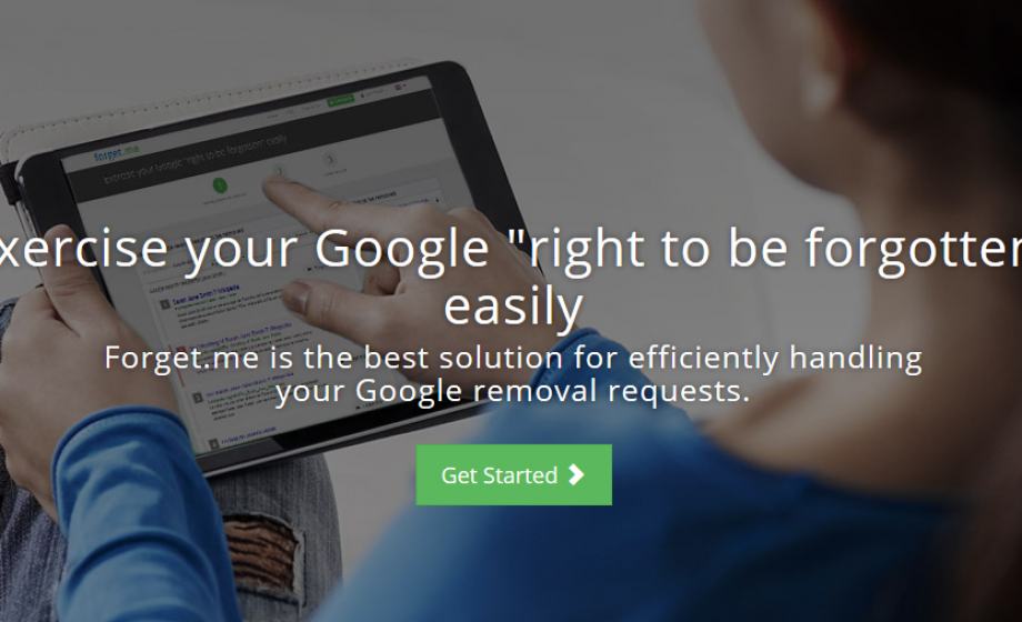 Forget.me helps you exercise your 'right to be forgotten'