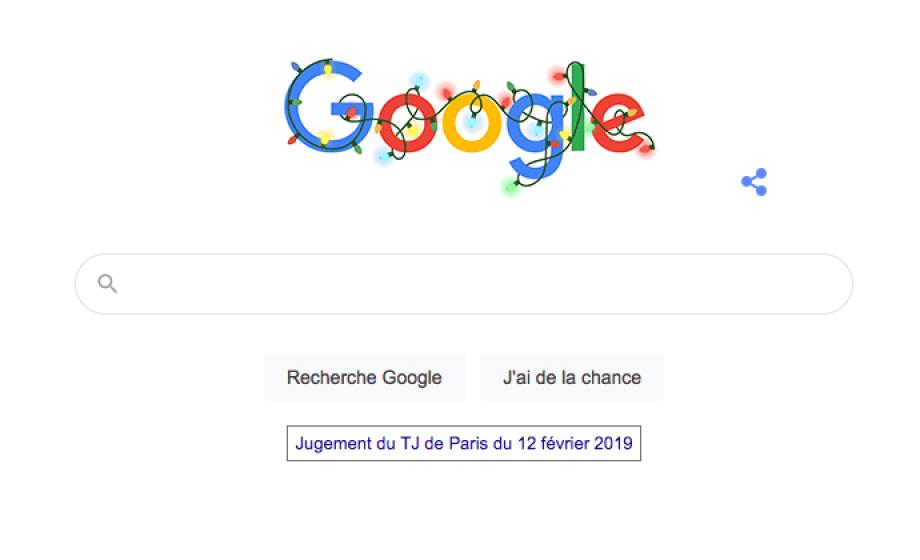 Google affiche enfin le jugement du TGI de Paris sur sa page d'accueil