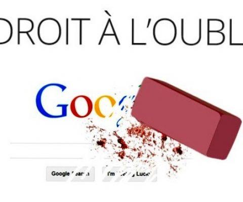 Google: le droit à l'oubli va rester bloqué en Europe