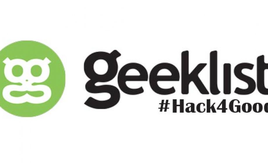 Geeklist again leading the charge to #Hack4good on February 7-9th