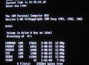 Microsoft publie le code source de MS-DOS sur GitHub
