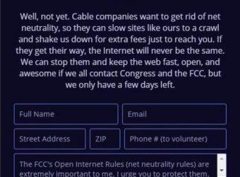 Neutralité du net : mobilisation décevante pour la manifestation du 12 juillet