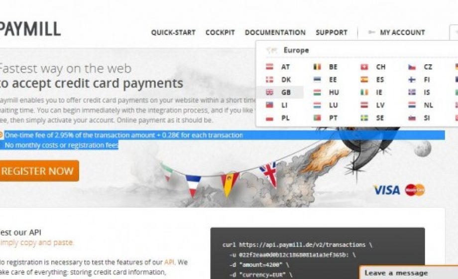 Online payments startup Paymill adds Carte Bleue to list of accepted payment methods