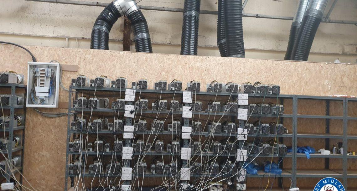 Insolite: la police britannique découvre une ferme à BitCoin illégale