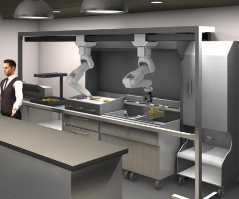 Robot en cuisine dans un fast-food !